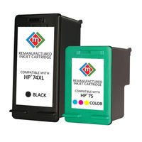 Members Mark Remanufactured HP 74XL 75 Combo Pack  2 Cartridges