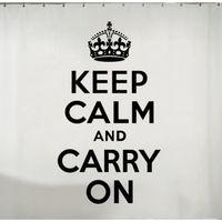 Keep Calm 72 Inch x 72 Inch Shower Curtain
