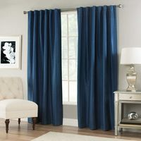 VERNET 108 INCH WINDOW CURTAIN PANEL IN NAVY