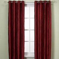 UNION SQUARE 108 INCH ROD POCKET/BACK TAB WINDOW CURTAIN PANEL IN RED