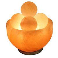 Himalayan Salt Bowl Lamp with Massage Stones
