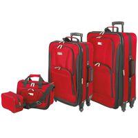 Geoffrey Beene Spinner Wheel 4Piece Luggage Set in Red