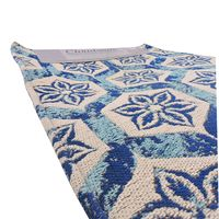 """Cloudwalk Woven Tapestry Rug with Orthopedic Foam 43"""" L x 24"""" W in Blue Floral"""