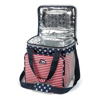 ARCTIC ZONE HIGH PERFORMANCE 30 CANS COOLER  RED WHITE BLUE