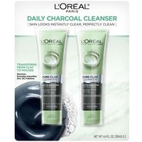 LOREAL PURE CLAY CLEANSERDETOXBRIGHTENCHARCOAL 4.4 OZ EACH