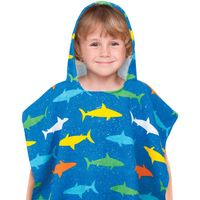 Kids' Hooded Beach Poncho in Shark