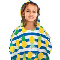 Kids' Hooded Beach Poncho in Pineapple