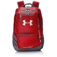 Under Armour Storm Hustle II Backpack, (Red/Silver, One Size)