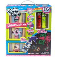Chalkadoos Sidewalk Chalk Set, 105 Pieces