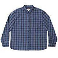 Boston Traders Men's Long Sleeve Dobby Shirt In Dress Blue, Large