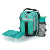 Arctic Zone HighPerformance DualCompartment Lunch Box In Teal