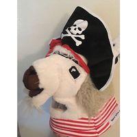 Plush Full Head Llama Mask Pirate GMS Mascot Head Costume Jolly Llama Teen Adult