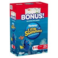 Huggies Little Swimmers Disposable Swim Diapers, Swimpants, Size 56 Large (Over 32 lb.) 25 ct