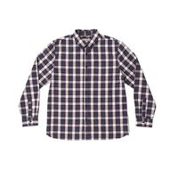 Boston Traders Men's LongSleeve Plaid Shirt in Tawny Port, XL