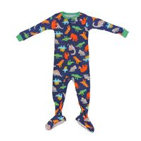 Carter's Fleece On Piece Dinosaur Pajama Size 24M in Navy