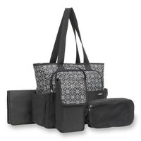 Carter's 5Piece Tote Diaper Bag Set in Shadow Circle