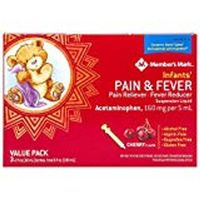 Member's Mark Infants' Pain and Fever Suspension Liquid, Cherry (2 fl. oz., 3 pk.)