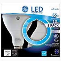 GE 10 Watt LED BR30 Floodlight (2pack)