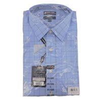 Kirkland Signature Mens Tailored Fit Dress Shirt In Blue White, Size L