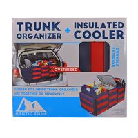 ARTIC ZONE TRUNK ORGANIZER AND INSULATED COOLER SET  RED NAVY