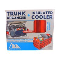 ARCTIC ZONE TRUNK ORGANIZER AND INSULATED COOLER SET  RED