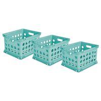 Sterilite File Crate Set, 3 Pack  AQUA