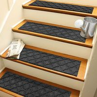 """Weather Guard Cordova 8.5"""" x 30"""" Stair Treads in Charcoal (Set of 4)"""