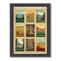 NATIONAL PARKS: MULTIPRINT 2 FRAMED WALL ART BY ANDERSON DESIGN GROUP