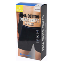 MEMBER'S MARK MEN'S PIMA BOXER BRIEFS IN GREY/ NAVY, SIZE SMALL