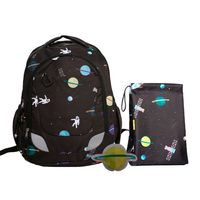 CRCKT Youth Backpack, 3 Piece Set with Lunch Kit and Matching Ice Pack In Space
