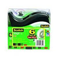 Scotch Magic Tape in 6 pack 810 with Dispenser