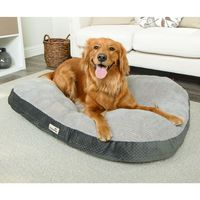 TrustyPup Thermaluxe Pet Bed, 40 x 35 In Gray