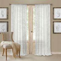 Addison Rod Pocket 84Inch Window Curtain Panel in White