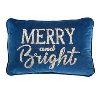 MEMBER'S MARK HOLIDAY ACCENT PILLOW  MERRY AND BRIGHT, 22 In x 14 In