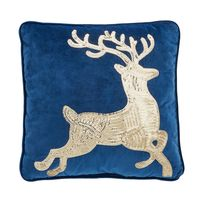 MEMBER'S MARK HOLIDAY ACCENT PILLOW  REINDEER, 18 In x 18 In