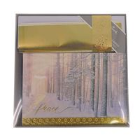 Hallmark Holiday Boxed Cards with Envelopes, Peace Gold