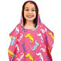 HOODED KID'S BEACH PONCHO IN MERMAID