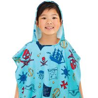 Hooded Kid's Beach Poncho In Pirate