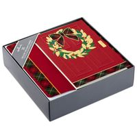 Hallmark Holiday Boxed Cards with Envelopes  Wreath With Red Door