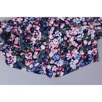 Pink  Violet Girl's Floral Tie Waist High Low Dress in Navy Floral Size L (10/12)