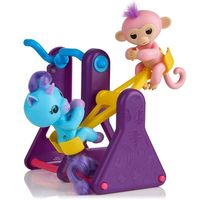 WowWee Fingerlings Playset SeeSaw with Coral and Callie
