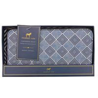 DABNEY LEE CONTINENTAL WALLET  DARK BLUE PRINT