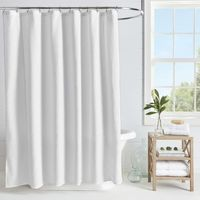 Microsculpt Arrow 54Inch x 78Inch Shower Curtain in White, Stall Size