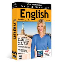 Instant Immersion English Levels 1, 2, 3 Family Edition Deluxe