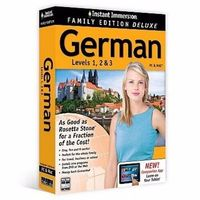 Instant Immersion Family Edition Deluxe German Levels 1, 2, 3