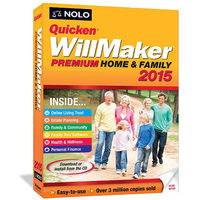 NOLO Quicken Will Maker Premium Home and Family 2015