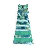 Paper Doll Sleeveless Maxi Dress for Girls (8, Mint Combo)