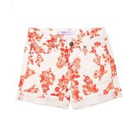 Vigoss Girls Mid Shorts, Rose Print Adjustable Waistband (7)