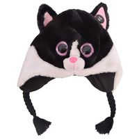BERKSHIRE FASHION BEANIE BOOS TY PEPPER THE CAT, ONE SIZE