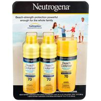 Neutrogena Beach Defense Spf 70 Sunscreen Spray And Lotion Mix Pack